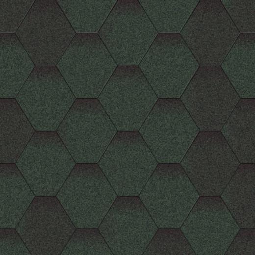 Бітумна черепиця «Мозаїка» «Зелена мікс»